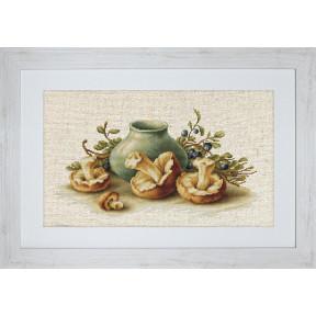 Набор для вышивки крестом Luca-S BL2247 Натюрморт с грибами