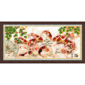 Набор для вышивки Золотое Руно РТ-028 Японские карпы