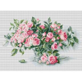 Набор для вышивки Luca-S BL22866 Букет чайных роз