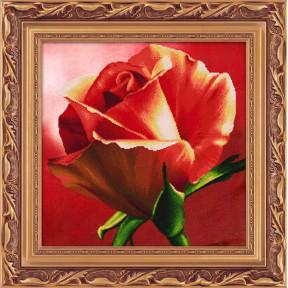 Набор для рисования камнями 5D-054 Lasko Красная роза фото