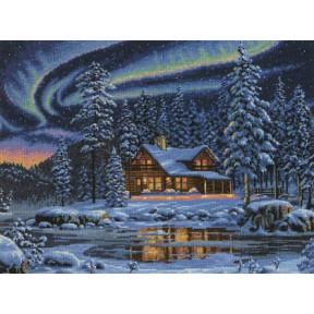 Набор для вышивки крестом Dimensions 35212 Aurora Cabin фото