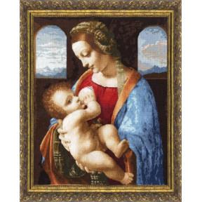 Набор для вышивки крестом Золотое Руно ПФ-009 Мадонна Литта