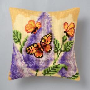 Набор для вышивки подушки Vervaco 1200/906 Бабочка на цветке