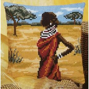 Набор для вышивки подушки Vervaco 1200/907 Африканка фото