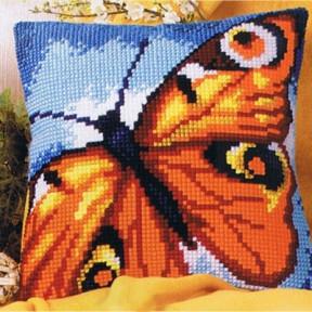 Набор для вышивки подушки Vervaco 1200/935 Оранжевая бабочка