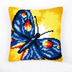 Набор для вышивки подушки Vervaco 1200/936 Синяя бабочка фото