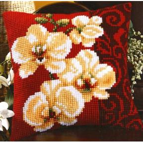 Набор для вышивки подушки Vervaco 1200/992 Белая орхидея фото