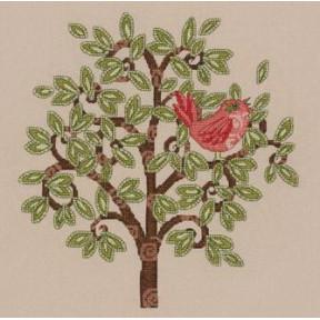 Набор для вышивания Bucilla 45822 Red Bird on Tree фото