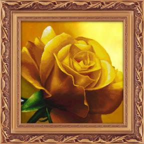Набор для рисования камнями 5D-055 Lasko Желтая роза фото