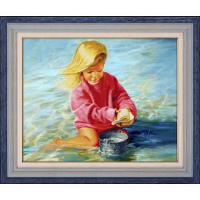 Набор для рисования камнями 5D-048 Lasko Девочка у моря фото
