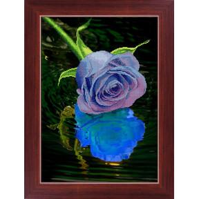Набор для рисования камнями 5D-033 Lasko Голубая роза фото