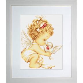 Набор для вышивки гобелена Luca-S G369 Ангелочек с голубями