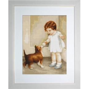 Набор для вышивки гобелена Luca-S G372 Девочка с собакой