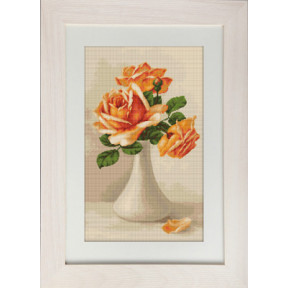 Набор для вышивки гобелена Luca-S G505 Оранжевые розы в вазе