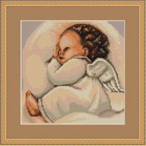 Набор для вышивки крестом Luca-S  Спящий ангелочек B356