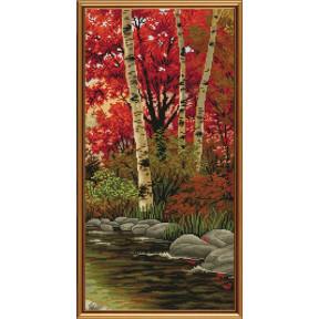 Набор для вышивания бисером и крестом Новая Слобода ННД-2079 Осенний блюз