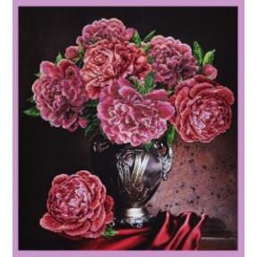 Набор для вышивания Картины Бисером Р-229 Бархатные пионы