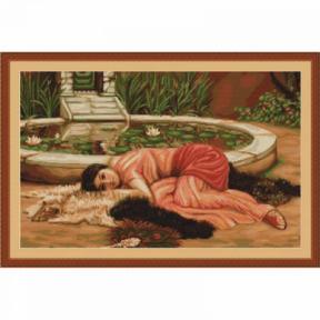 Набор для вышивки крестом Luca-S Приятная Праздность  B426