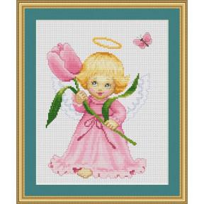 Набор для вышивки крестом Luca-S  Цветочек для мамы B193