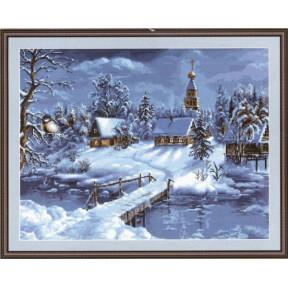 Набор для вышивки крестом Luca-S  Зимний пейзаж B447