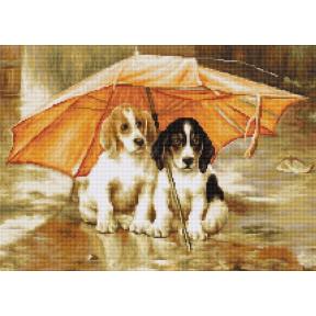Набор для вышивки Luca-S B550 Двое под зонтом
