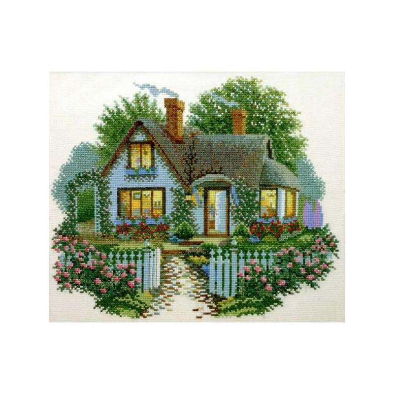 Вышивка крестиком домик картинки