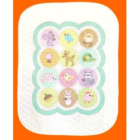 Набор для вышивания одеяла Dimensions 70-73559 Happi Woodland
