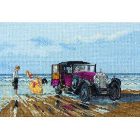 Набор для вышивания Anchor PCE760 Vintage Rolls on the Beach / Винтажный Rolls-Royce на пляже