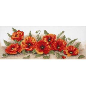 Набор для вышивания Anchor PCE722  Spray Of Poppies /Россыпь маков