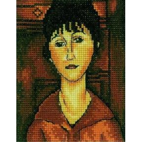 Набор для вышивки крестом RTO EH337 Портрет девушки