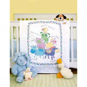 Набор для вышивания одеяла Dimensions 73258 Farm Friends фото