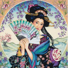 Набор для вышивки Dimensions 35206 The Enchanting Geisha фото