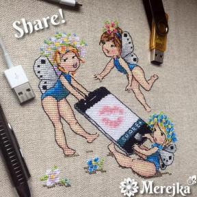 Набор для вышивания крестом Мережка  Share К-79