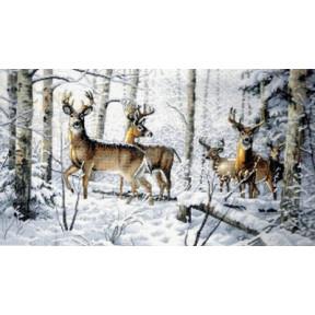Набор для вышивки крестом Dimensions 35130 Woodland Winter