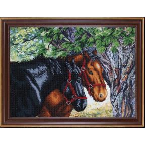 Набор для вышивания бисером Магия Канвы Б-335 Пара лошадей фото