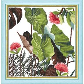 Набор для вышивания крестом  Чарівна Мить ВТ-168 Триптих Сквозь жаркие тропики