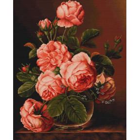 Набор для вышивки крестом Luca-S  Розы в вазе B488