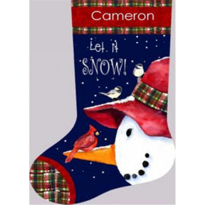 Набор для вышивки Dimensions 71-09149 Snowman Perch Stocking