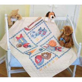 Набор для вышивания одеяла Dimensions 73255 Little Sports Quilt