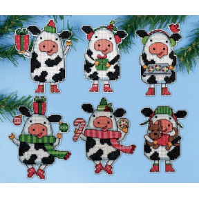 Набор для вышивания Design Works 1695 Christmas Cows