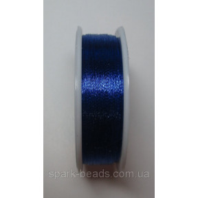 Металлизированная нить круглая Люрекс Аллюр 100-09 синый  100м