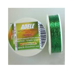 Металлизированная нить плоская Люрекс Адель 80-07 салатовый 100м