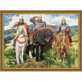 Набор для вышивки крестом Золотое Руно МК-035 Три Богатыря фото