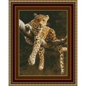 Набор для вышивания Kustom Krafts 99237 Отдыхающий леопард фото