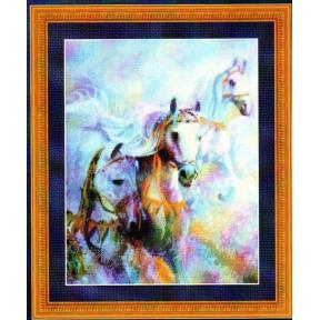 Набор для вышивания Kustom Krafts 99907 Arabian Jewels-Horses