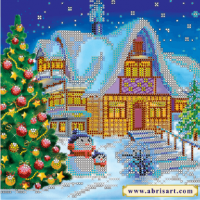 Схема для вышивания бисером Абрис Арт АС-053  Зимняя сказка