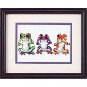 Набор для вышивания Dimensions 16758 Tree Frog Trio
