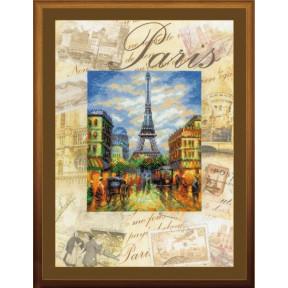 Набор для вышивки крестом Риолис РТ-0018 Париж.Город мира