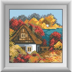 Набор для рисования камнями Dream Art 30486D Осенний домик фото