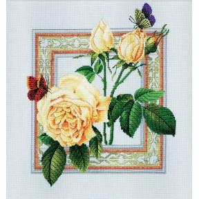 Набор для вышивки крестом RTO R170 Бабочки и цветы